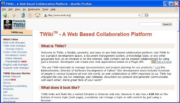 New Look Twiki Screen Shot